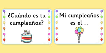 Birthday Board Cards Spanish - spanish, birthday, board, cards, display, birthday board