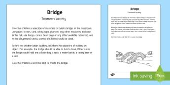Bridge Team Building Game - communication, team challenge, activity, challenge, pe, gym