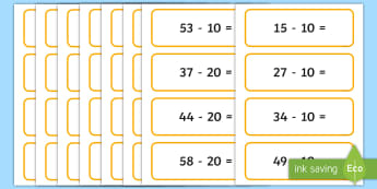 Subtraction primary resources minus less new subtracting multiples of 10 from a 2 digit number ibookread Read Online