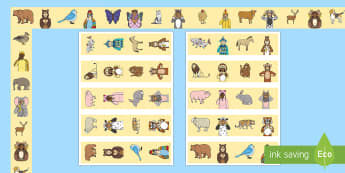 British Sign Language (BSL) Animals Display Borders - printable, horizontal strips, display board, vertical strips, deaf, teacher of the deaf, inclusion