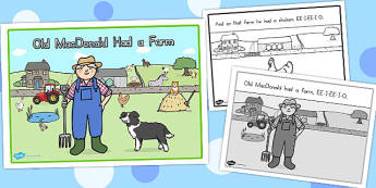 Old MacDonald Had a Farm Story Sequencing A4 - australia, story