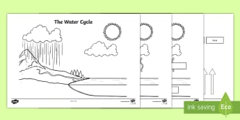 Water cycle ks2 geography resources blank water cycle diagram the water cylce water cycle water cycle labelling worksheet ccuart Image collections