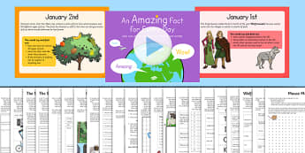 Amazing Fact a Day January Activity Pack - amazing, fact a day, january, activity, pack, resources
