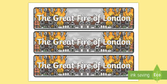The Great Fire of London Display Sign - the great fire of london, display sign, display, sign, fire, london