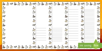 Chinese New Year Animal Symbols Page Border Pack English/Afrikaans - January, traditions, celebrations, countries, literacy, write, skryf, EAL