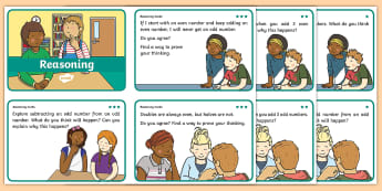 I Wonder Why? Reasoning Cards Differentiated Activity Sheets -  Count on, count back, reasoning, subtract, subtraction, add, addition, complement of a set, number