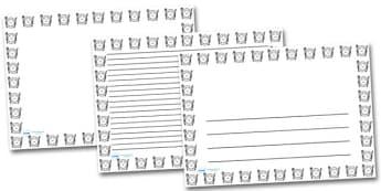 Smiley Plate Landscape Page Borders- Landscape Page Borders - Page border, border, writing template, writing aid, writing frame, a4 border, template, templates, landscape