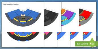 Superhero Cone Characters - superhero, cone, character, craft