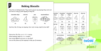 PlanIt Maths Y1 Addition and Subtraction Adding with Money Home Learning Tasks