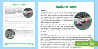 Bathurst 1000 Fact Sheet - Car racing, Australian sport, V8, Peter Brock, Ford, Holden,