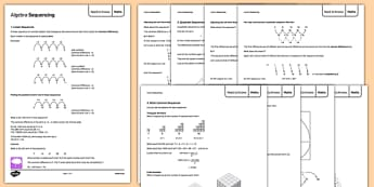 Maths Need to Knows Algebra Sequencing - Maths, KS3, Algebra, sequences, revision, display, independent learning, project