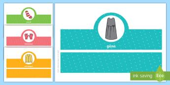 Clothes, Oral Language Headband Game Gaeilge - teanga, ag caint, Gaeilge, Irish, cluiche, cluichí, éadaí,Irish