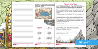 The Wyrmstooth Crown Fronted Adverbials Writing Activity Sheet - spag, clauses, adverbs, descriptive, setting, fantasy, dragons, guided