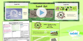 Art: Nature Sculptures: Land Art KS1 Lesson Pack 4