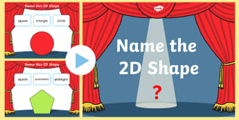 Name the 2D Shape KS1 PowerPoint Quiz - quiz, 2d, shape, name