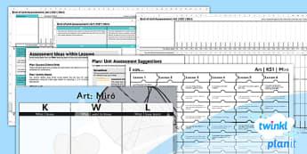 Art: Miro KS1 Unit Assessment Pack