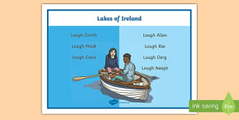 Lakes of Ireland Word Mat