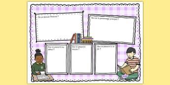 Support en couleur pour la production écrite de critiques de livres - french, reading review, read, Critique, livre, écriture, lecture