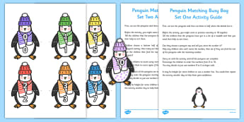 Penguin Matching Busy Bag Resource Pack for Parents - Antarctic, Polar, Penguin, busy bag, matching, match