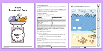Year 1 Maths Assessment Pack Term 1 - assessment, pack, year 1, maths