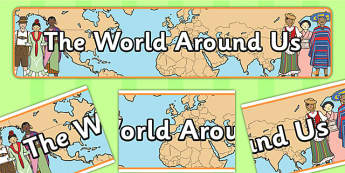 The World Around Us Display Banner - display, banner, world