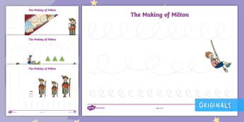 The Making of Milton Pencil Control Activity Sheets - KS1, EYFS, pencil control, fine motor skills, finger fitness, twinkl fiction, twinkl originals