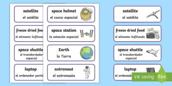 * NEW * Space Station Role Play Labels - English / Spanish - Space Station Role Play Labels-space station, role play, labels, role play labels, space station rol