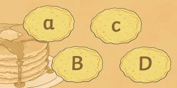 A-Z on Pancakes Display Posters - Pancake Day UK Feb 28th, shrove Tuesday, pancakes, lent, alphabet, a-z, pancake day