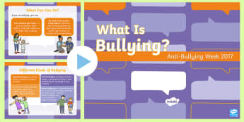 Anti-Bullying Week 2017 First Level PowerPoint - Relationships, Equality, Friendship, Difference, Prejudice, Bully,Scottish