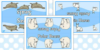 Editable Group Table Signs (Winter) - Group signs, group labels, group table signs, table sign, teaching groups, class group, class groups, table label, winter, seasons, ice, penguin, huskey, snow, winter, frost, cold, ice, hat, gloves