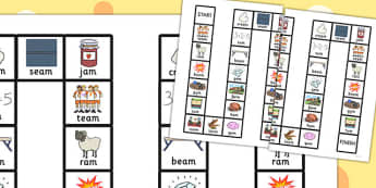 Final 'M' Sound Board Game - final m, sound, board game, game