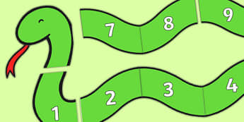 Numbers 1-10 on Counting Snake - numbers 1-10, numbers, counting, count, snake, maths, mathematics