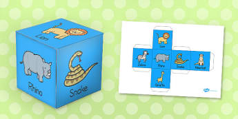 Animal Role Play Dice - animal, role-play, dice, activity, game