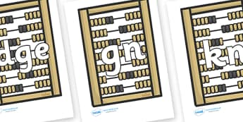 Silent Letters on Abacus - Silent Letters, silent letter, letter blend, consonant, consonants, digraph, trigraph, A-Z letters, literacy, alphabet, letters, alternative sounds