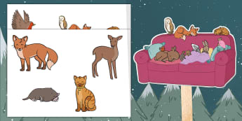 Ten Little Lights Stick Puppets - Twinkl Originals, Fiction, Christmas, Winter, Snow, Cold, KS1, EYFS, Role-play