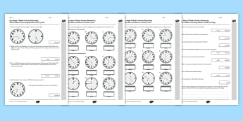 KS2 Reasoning Test Practice Measurement Time - Key Stage 2, KS2, Reasoning, Test, Practice, Measurement, Time