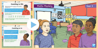 Year 3 Counting Maths Mastery PowerPoint - Reasoning, Greater Depth, Abstract, Problem Solving, Explanation
