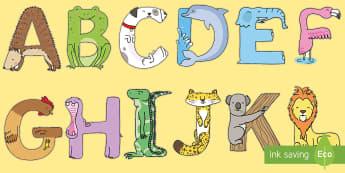 Literele alfabetului deghizate în animale și monstruleți Materiale pentru decupat - litere, alfabet cu animale, alfabet, citire, alfabetul în imagini, alfabet ilustrat, litere sub for