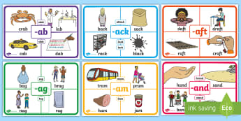 ROI Rime Display Posters-Irish - rime, phonics, phonological awareness, reading, sounds, word families, display posters, ROI, Ireland