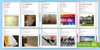 Materials Revision Cards Pack 1 - materials, properties, characteristics, card, paper, board, polymers, textile, metals, smart materia