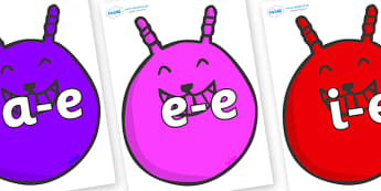 Modifying E Letters on Space Hoppers - Modifying E, letters, modify, Phase 5, Phase five, alternative spellings for phonemes, DfES letters and Sounds