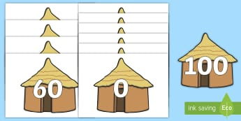 Counting in 10s on Huts  Display Cut-Outs  - Houses and Homes, ks1, year 1, year one, y1, history, geography, flats, caravan, apartment, hf words