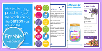 Teacher Wellbeing  ToolKit  Resource Pack - wellbeing, well being, self, care, meditation
