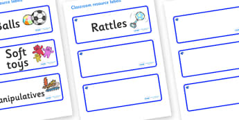 Sapphire Themed Editable Additional Resource Labels - Themed Label template, Resource Label, Name Labels, Editable Labels, Drawer Labels, KS1 Labels, Foundation Labels, Foundation Stage Labels, Teaching Labels, Resource Labels, Tray Labels, Printable