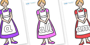 Foundation Stage 2 Keywords on Maids - FS2, CLL, keywords, Communication language and literacy,  Display, Key words, high frequency words, foundation stage literacy, DfES Letters and Sounds, Letters and Sounds, spelling