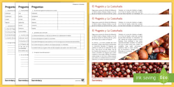 El Magosto and La Castañada Differentiated Reading Comprehension Activity Spanish - Halloween, Day, Dead, Vocabulary, culture, Spain, Traditions, Festivities, Celebrations