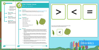 KS1  Take It Outside: Summer Maths Ordering Activity - outdoor learning, forest school, length, measure, compare, nature detectives, outdoor, woodland learning, twinkl outdoor and woodland learning owl get it