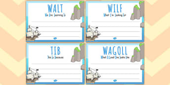 Pirate Themed 'WALT', 'WILF', 'TIB', 'WAGOLL' Posters - pirate