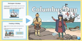 Columbus Day PowerPoint - christopher columbus, columbus day, october, fall, holidays