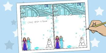 Winter Fairytale Editable Notes - editable, notes, frozen, tale, Elsa